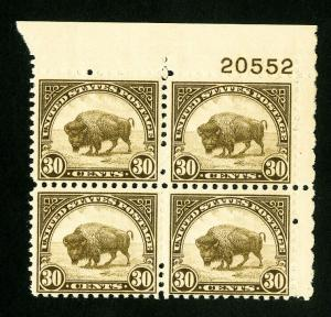 US Stamps # 700 VF Fresh PB of 4 OG NH