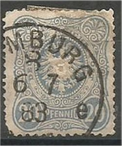 GERMANY, 1880, used 20pf, Pfennig  Scott 40