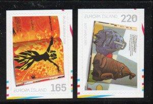 Iceland Sc  1198-99 2010 Europa self adhesive stamp set mint NH