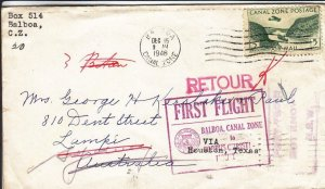 1946, 1st Flt., Balboa, Canal Zone to Corpus Christi, TX, See Remark (30998)