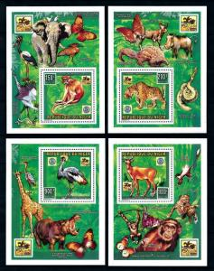 [76548] Niger 1996 World Jamboree Scouting Wild Life Butterflies 4 Sheets MNH