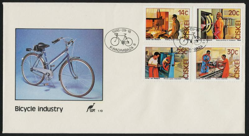 Ciskei 94-7 FDC Bicycle Industry