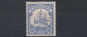 CAROLINE ISLAND 1901   S G 16    20PF  ULTRAMARINE     MNH