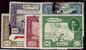 Iran SC#910-914 Used F-VF SCV$20.00...Worth a Close Look!