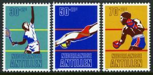 Netherlands Antilles B186-B188, MNH. Tennis, Diving, Boxing, 1981