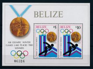 [60950] Belize 1980 Olympic games Moscow Skating MNH Sheet