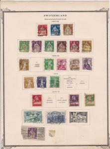 switzerland early stamps  on album page ref r11450