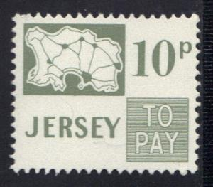 Jersey  1971  MNH  postage due  10 p  #