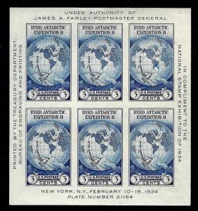 735 Mint,NGAI,H... Souvenir Sheet... SCV $10.00... Stock Photo