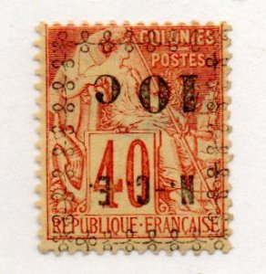 New Caledonia 13a Inverted Overprint Mint Hinged