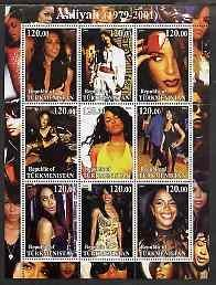 Turkmenistan 2001 AALIYAHAmerican Singer Sheet Perforated Mint (NH)