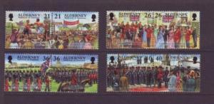 Alderney Sc 155-62 2000 Garrison Island stamps mint NH
