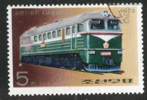 Korea DPRK Scott 1526 Used CTO 1976 Train stamp