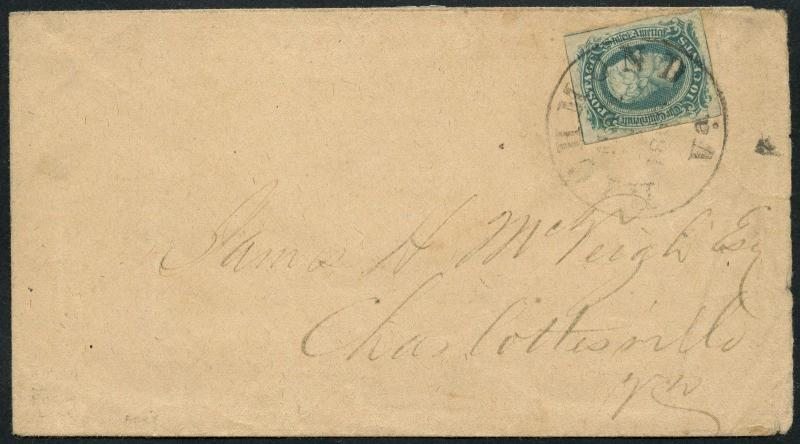 CSA #10 ON COVER RICHMOND, VA TO CHARLOTTESVILLE, VA WITH PSE CERT WLM4264