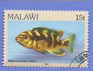 Malawi Scott #433 Fish, used
