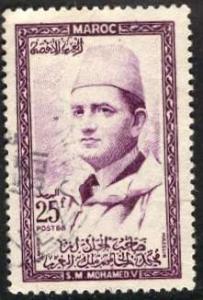 Morocco 1957: Sc. # 4; O/Used Single Stamp