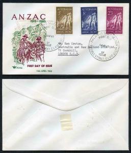 Australia SG373/5 Gallipoli set First Day Cover