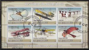 MOZAMBIQUE SHEET USED AVIATION AIRPLANES TRANSPORT