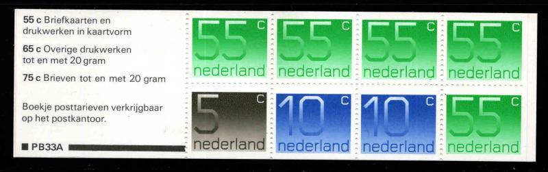 Netherlands Scott 536g Booklet 1986