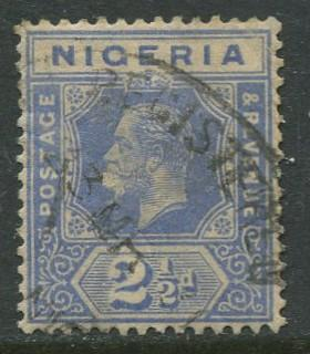 Nigeria -Scott 24 - KGV Definitive - 1921 - Used - Single 2.1/2p Stamp