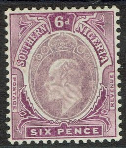 SOUTHERN NIGERIA 1907 KEVII 6D