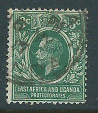 East Africa & Uganda SG 45a Dp Blue Green top perf with t...