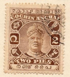 Cochin India 1917 Early Issue Fine Used 2p. 059942