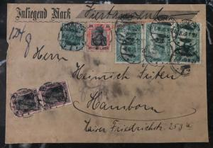 1920 Lubeck Germany Early Inflation Rate Front Cover To Hamburg