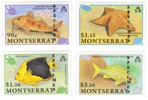 Montserrat #758-61 MNH SPECIMEN fish