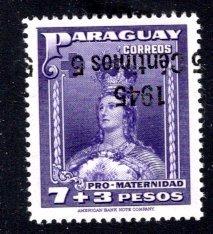 Paraguay #432, Error – Inverted Overprint,   MNH ...  4910314