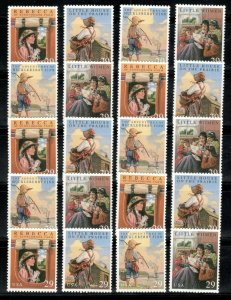 2785-88 Classic Books Wholesale Lot Of 20 Singles Mint/nh Below Face