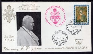 Vatican City Pontificate of Pope Paul VI 1975 Cover