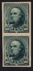 $US SC#226p5 MLH, XF Pair Plate Proof on Stamp Paper, OG, CV $325.00