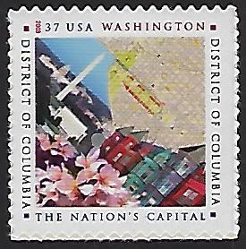Catalog #3813 Single Stamp Washington DC District of Columbia Nations Capitol