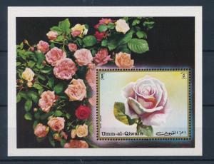 [36544] Umm al Qiwain 1972 Rose Flowers Souvenir Sheet MNH