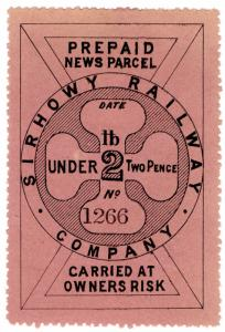 (I.B) Sirhowy Railway : Newspaper Parcel 2d