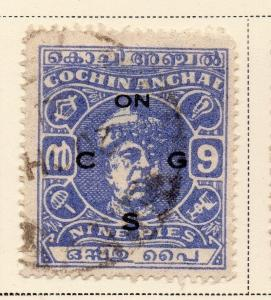 Indian States Cochin 1946 Early Issue Fine Used 9p. Optd ...