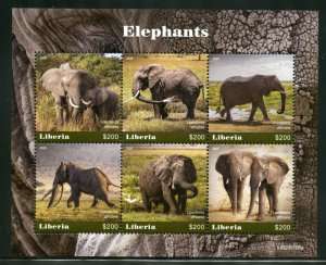 LIBERIA  2020 ELEPHANTS SHEET MINT NH