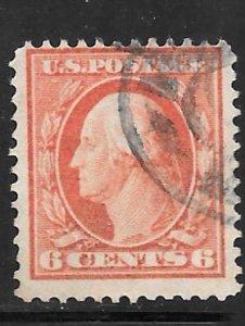 USA 379: 6c Washington, used, F