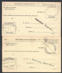 Engle, Two Package Receipts, New Mexico