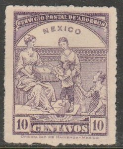 MEXICO 10¢ POSTAL SAVINGS LABEL, 1928 UNUSED, NO GUM. F-VF. (812)