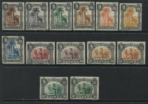 Nyassa 1901 complete set mint o.g. hinged