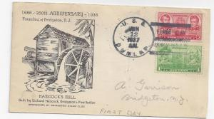 Naval Cover USS Dunlap First Day in Commission 1937 DD 384