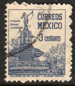 MEXICO 839 3c 1934 Definitive Wmk Gobierno...279 Used (671)
