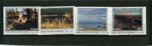 PALAU 2003 PAINTINGS BY JAMES MCNEILL WHISTLER SET OF 4 STAMPS MNH