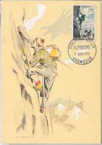 57308 -  FRANCE - POSTAL HISTORY: FDC MAXIMUM CARD 1956 -  SPORT: MOUNTAINEERING