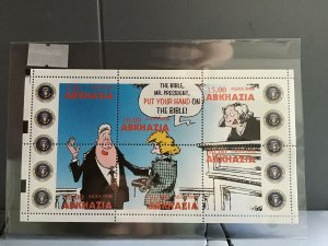 Abkhazia Bill Clinton Funny  mint never hinged   stamps  sheet R25348