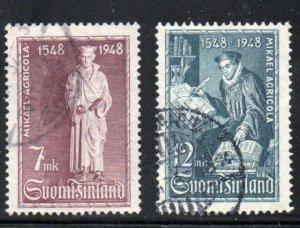 Finland Sc 276-7 1948 Finnish Bible Translation stamp set used