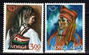 Norway #940-1 MNH CV $3.25 (Z9749)