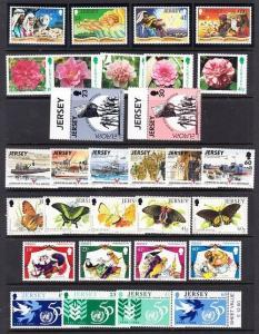 Jersey Scott 690 // 739 Mint NH (7 sets) Catalog Value $39.80
